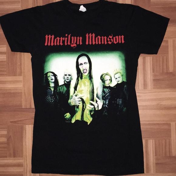 845c58e2aa79 bay island Shirts | Vintage Marilyn Manson Tee | Poshmark